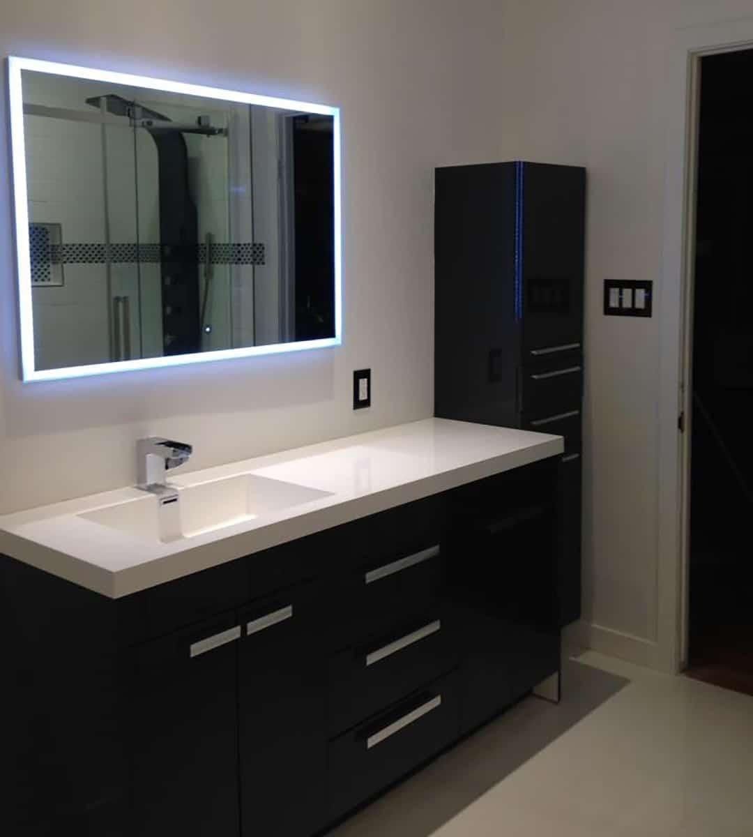 Covem Construction Salle de Bains Moderne Miroir